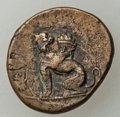 Ancients:Greek, Ancients: IONIA. Chios. Ca. 334-190 BC. AE18 (3.45 gm). VF,overstruck....