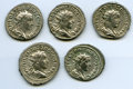 Ancients:Ancient Lots , Ancients: ANCIENT LOTS. Roman Imperial. Lot of five (5) HerenniusEtruscus (AD 250-251), AR antoniniani. VF-XF.... (Total: 5coins)