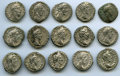 Ancients:Ancient Lots , Ancients: GROUP LOTS. Roman Imperial. Lot of fifteen (15) Commodus(AD 177-192). AR denarii. VF-About XF.... (Total: 15 coins)
