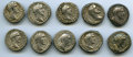Ancients:Ancient Lots , Ancients: GROUP LOTS. Roman Imperial. Lot of ten (10) AntoninusPius (AD 138-161) AR denarii. Choice Fine-VF.... (Total: 10coins)