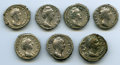 Ancients:Ancient Lots , Ancients: GROUP LOTS. Roman Imperial. Faustina I (died AD 140/1).Lot of seven (7) AR denarii. Fine-VF.... (Total: 7 coins)