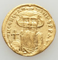 Ancients:Byzantine, Ancients: Constans II (AD 641-668). AV solidus (4.34 gm). XF,scratches. ...