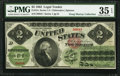 Large Size:Legal Tender Notes, Fr. 41c $2 1862 Legal Tender PMG Choice Very Fine 35 EPQ.. ...