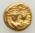 Ancients:Byzantine, Ancients: Heraclius (AD 610-641) & Heraclius Constantine (AD613-641). AV solidus (4.52 gm). VF, flan flaw. ...