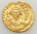 Ancients:Byzantine, Ancients: Phocas (AD 602-610). AV solidus (4.45 gm). XF,graffito. ...