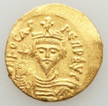 Ancients:Byzantine, Ancients: Phocas (AD 602-610). AV solidus (4.49 gm). XF, surfacehairlines, scuff. ...