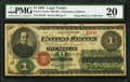 Large Size:Legal Tender Notes, Fr. 17c $1 1862 Legal Tender PMG Very Fine 20.. ...