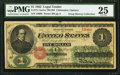 Large Size:Legal Tender Notes, Fr. 17c $1 1862 Legal Tender PMG Very Fine 25.. ...