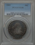Early Half Dollars: , 1805 50C VG10 PCGS. PCGS Population: (32/555). NGC Census:(10/256). Mintage 211,722. ...