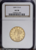 Liberty Eagles: , 1899-O $10 AU58 NGC. PCGS Population (35/92). NGC Census: (67/70).Mintage: 37,047. Numismedia Wsl. Price: $332.(#8743)...