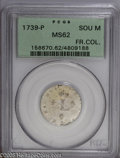 Colonials: , 1739-P SOU M French Colonies Sou Marque MS62 PCGS. Breen-539. Thisis the only 1739-P Sou Marque encapsulated by PCGS (10/0...