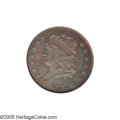 Proof Classic Head Half Cents: , 1833 1/2 C PR64 Brown PCGS. B-1, C-1, the only known dies, R.5 asproof. All 1833 Classic Half Cents were struck from a sin...