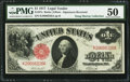 Large Size:Legal Tender Notes, Fr. 37a $1 1917 Legal Tender PMG About Uncirculated 50.