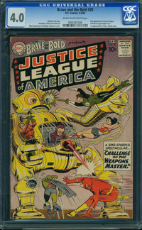 The Brave and the Bold 29 Justice League of America (DC, 1960) CGC VG 4.0 Cream to off-white pages