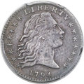 Early Half Dimes, 1794 H10C V-4, LM-4, R.4 -- Tooled -- PCGS Genuine. XF Detail....