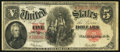 Large Size:Legal Tender Notes, Fr. 91 $5 1907 Legal Tender Fine.. ...