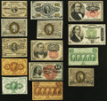 Fractional Currency:Fourth Issue, Fourteen Assorted Fractional Notes Totaling $2.78 in Face Value Fine or Better.. ... (Total: 14 notes)