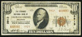 National Bank Notes:Colorado, Colorado Springs, CO - $10 1929 Ty. 2 The Exchange NB Ch. # 3913....