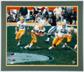 Football Collectibles:Photos, Circa 1966-68 Bart Starr, Donny Anderson, and Bob Skoronski Multi-Signed Oversized Photograph....