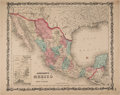 Books:Maps & Atlases, 1861 Johnson's Mexico Map....