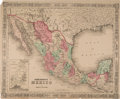 Books:Maps & Atlases, [Map]. Johnson's 1862 Mexico Map....