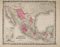 Books:Maps & Atlases, 1862 Johnson's Mexico Map....