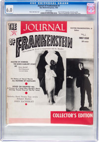 The Journal of Frankenstein #1 (New World Enterprises, 1959) CGC FN 6.0 White pages