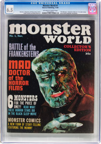 Monster World #1 (Warren, 1964) CGC FN+ 6.5 Off-white to white pages