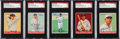 Autographs:Sports Cards, Signed 1933 Goudey Baseball SGC Authentic Collection (5). ...