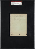 Baseball Collectibles:Others, Circa 1930 Babe Ruth Signed Autograph Page. . ...