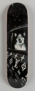 Fine Art - Work on Paper:Print, Ricky Powell (b. 1961). Louis Vuitton Car Dog, n.d..Photogravure on skatedeck. 32 x 8 inches (81.3 x 20.3 cm). Edition...