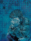Fine Art - Work on Paper:Print, C215 (b. 1973). Blue Nina, 2008. Screenprint in colors withhand finishing on FA5 Fabriano paper. 26-1/4 x 19-3/4 inches...