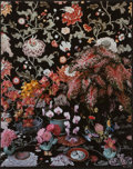 Photographs:Dye destruction, Don Worth (American, 1924-2009). Orchids and Caladiums, MillValley, 1984. Dye destruction. 34 x 27-1/2 inches (86.4 x 6...