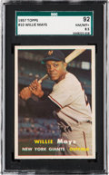 Baseball Cards:Singles (1950-1959), 1957 Topps Willie Mays #10 SGC 92 NM/MT+ 8.5....