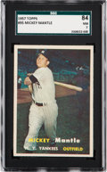 Baseball Cards:Singles (1950-1959), 1957 Topps Mickey Mantle #95 SGC 84 NM 7....