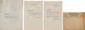 Football Collectibles:Uniforms, 1930-31 Knute Rockne Signed Letters & Correspondence Lot of 2. . ...