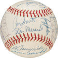 Baseball Collectibles:Balls, 1963 National League All-Star Team Signed Baseball.. ...