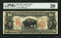 Large Size:Legal Tender Notes, Fr. 118 $10 1901 Legal Tender PMG Very Fine 20.. ...
