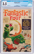 Silver Age (1956-1969):Superhero, Fantastic Four #1 (Marvel, 1961) CGC VG- 3.5 Cream to off-white pages....