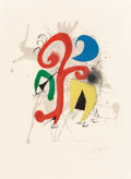 Post-War & Contemporary:Contemporary, Joan Miró (1893-1983). Jardin au clair de lune (Hommage aTeriade), 1973. Lithograph in colors on Arches paper. 18-1/8x...