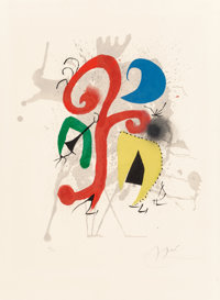 Joan Miró (1893-1983) Jardin au clair de lune (Hommage a Teriade), 1973 Lithograph in colors on Arch