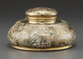 Art Glass:Tiffany , A Tiffany Studios Glass and Gilt Bronze Pine Needle PatternMaster Inkwell with Glass Liner and Bakelite Insert, ...