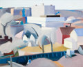 Fine Art - Painting, American:Contemporary   (1950 to present)  , Martha Armstrong (American, b. 1935). Philadelphia. Oil oncanvas. 40 x 48 inches (101.6 x 121.9 cm). Initialed lower ri...