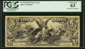 Hessler 358 Fr. 268 $5 1896 Silver Certificate Face Proof PCGS Choice New 63