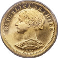 Chile, Chile: Republic gold 20 Pesos 1958-So MS65 PCGS,...