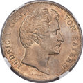 German States:Bavaria, German States: Bavaria. Ludwig I 2 Taler 1842 MS65 NGC,...