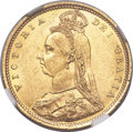 "Australia, Australia: Victoria gold ""Jubilee Head"" 1/2 Sovereign 1887-S MS63+NGC,..."