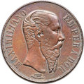 Mexico, Mexico: Maximilian copper Off-Metal Pattern Trial Peso 1866-Mo XFDetails (Tooled, Whizzed) NGC,...