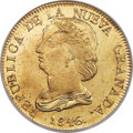 Colombia, Colombia: Republic gold 16 Pesos 1846 POPAYAN-UE MS64 NGC,...