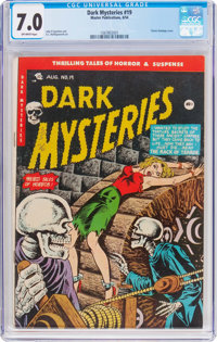 Dark Mysteries #19 (Master Publications, 1954) CGC FN/VF 7.0 Off-white pages